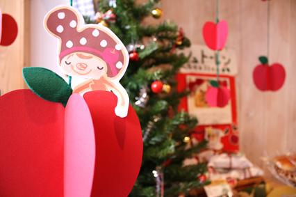 店内のクリスマスの飾り