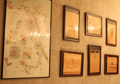 イタリア調の店内装飾