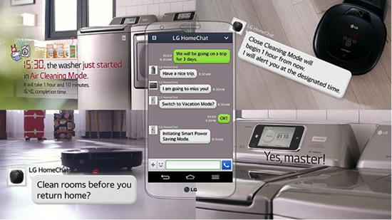 冷蔵庫・洗濯機・テレビなどの生活家電:例)LG HomeChat
