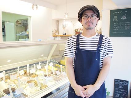 オーナーで、ジェラートマイスターである中井さん